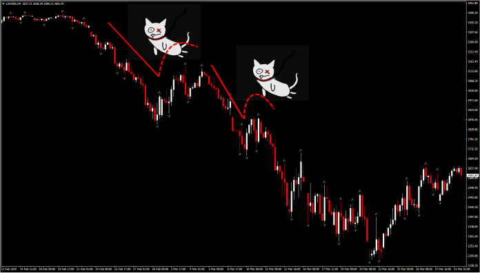 How to Trade the Dead Cat Bounce Pattern   TradingSim